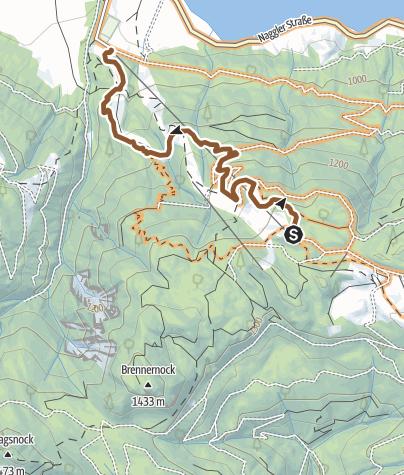 Karte / Moutainbike-Singletrail Weissensee