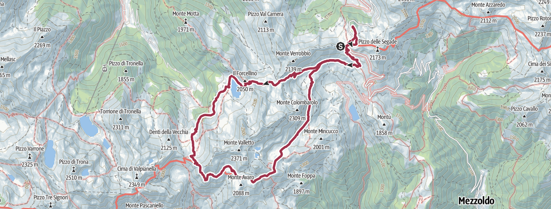 Mapa / Passo San Marco - Rifugio Salmurano