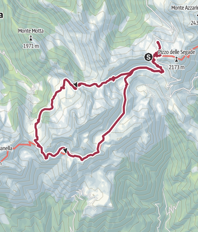 Hartă / Passo San Marco - Rifugio Salmurano