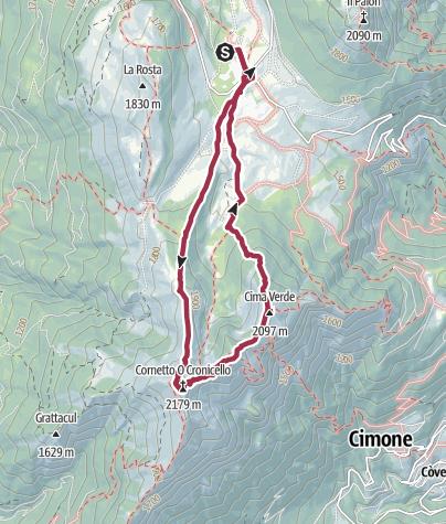 Map / Tre Cime del Bondone