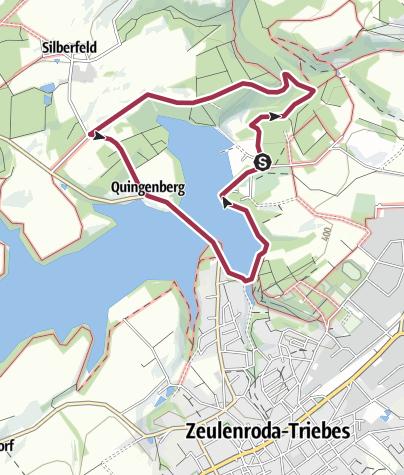 Karte / Rundweg Staudammblick