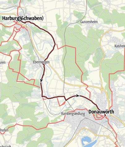 Karte / VIA ROMEA Harburg - Donauwörth (44)