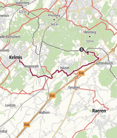 Map / Göhltalroute Via Gulia - Quelle der Göhl / Kelmis