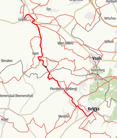 Carte / Route vallée de la Gueule – La Calamine / Gulpen