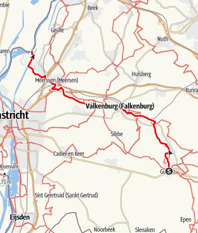 Karte / Göhltalroute Via Gulia - Gulpen / Valkenburgh / Maas