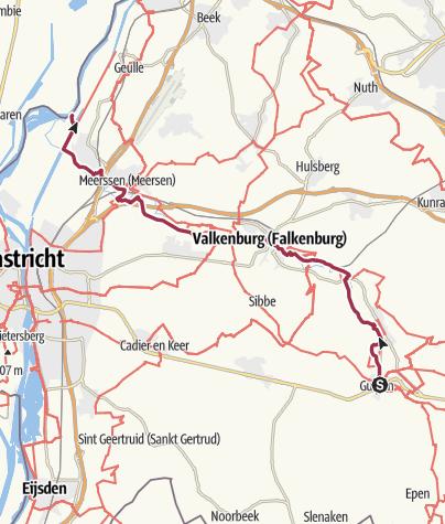 Map / Göhltalroute Via Gulia - Gulpen / Valkenburgh / Maas