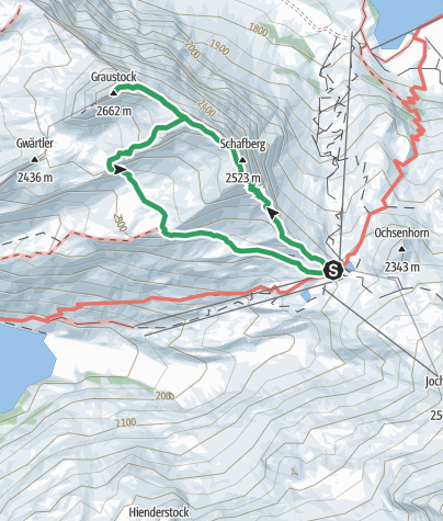 Map / Klettersteig Graustock bei Engelberg/Titlis