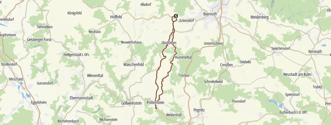 Karte / 50K-Gravel // Pottenstein, Ahorntal