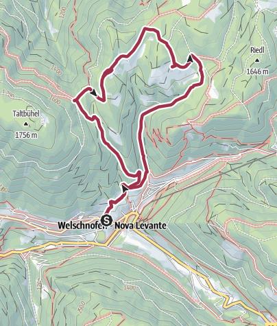 Map / Farms Hike in Nova Levante/Welschnofen