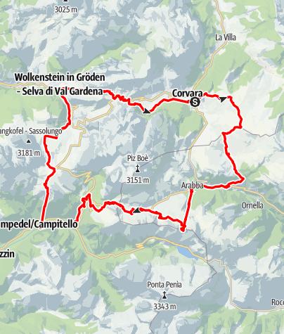 Mappa / Sellaronda (senso orario)