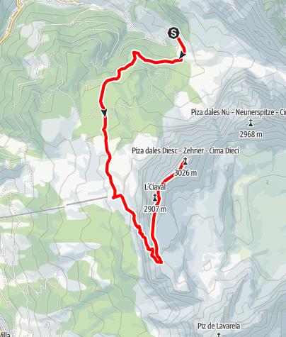 Map / Piza dales Diesc