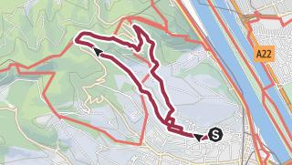 מפה / Rundwanderung Nussdorf-Kahlenberg-Nussberg