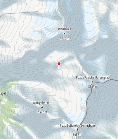 Karte / Almageller Hütte 2.894m