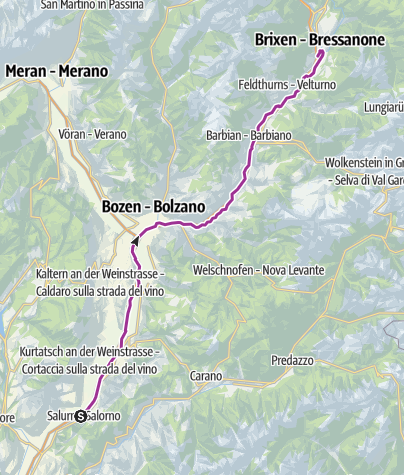 Map / Castelfeder – Bolzano – Valle Isarco