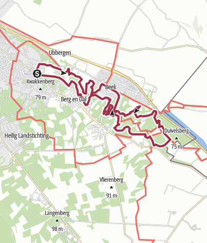 Map / Route from N 70 - Natuurroute lang