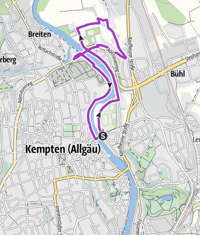 Karte / Neue Strecke Silvesterlauf 5-Km-Runde ab 2016