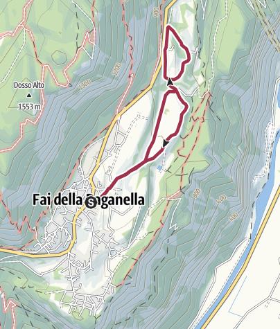 Cartina / Fai della Paganella - Percorso dell'otto
