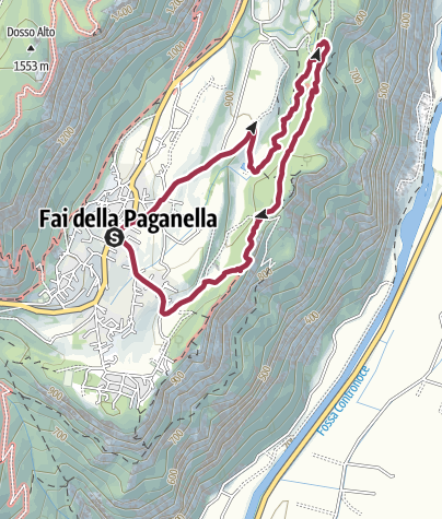 Cartina / Fai della Paganella - Percorso acqua e faggi