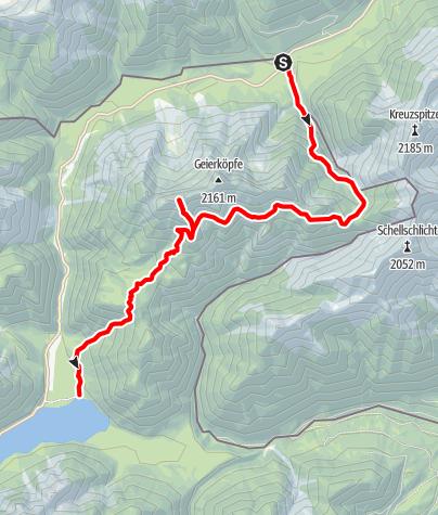 Karte / Bergtour - Geierköpfe