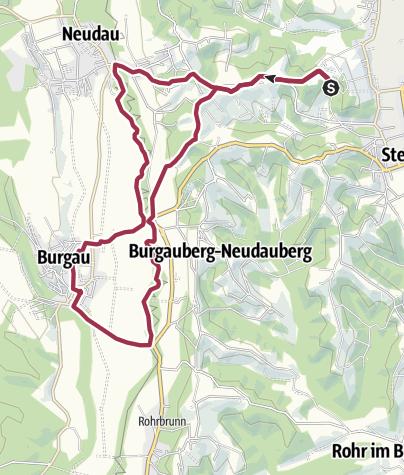 Karte / Grosse Burgau Runde