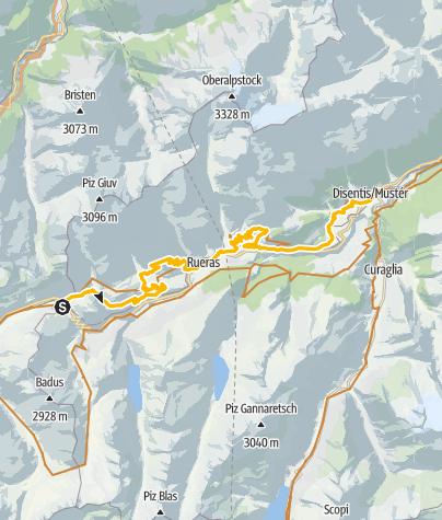 Map /  Oberalppass – Disentis
