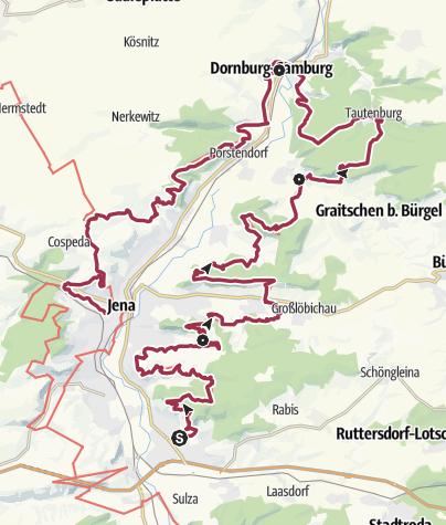 Map / SaaleHorizontale Gesamttour