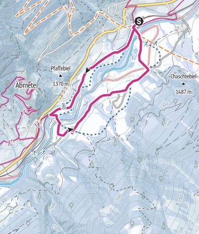 Karte / Biel - Zeit - Bodmen - Blitzingen