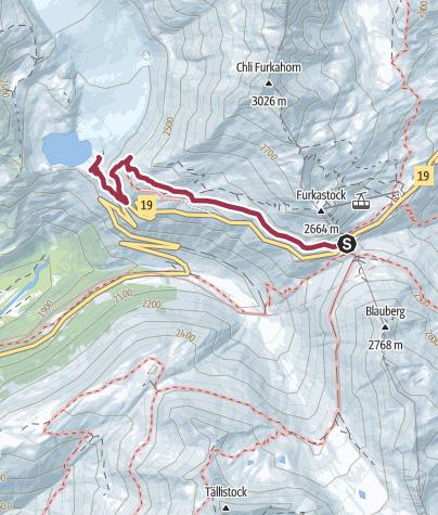 Map / Furkapass – Rhonegletscher