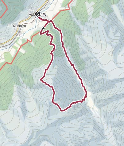 Map / Reckingen - Grathorn - Reckingen