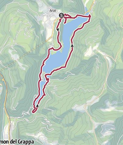 Map / Giro del Lago Corlo