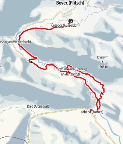 Map / Soca-MTB-Trail