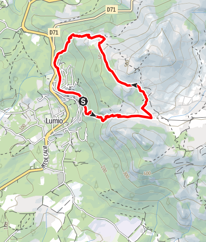 Karte / Lumiu - kurze Rundwanderung zu den Ruinen von Occi (Nähe Calvi)
