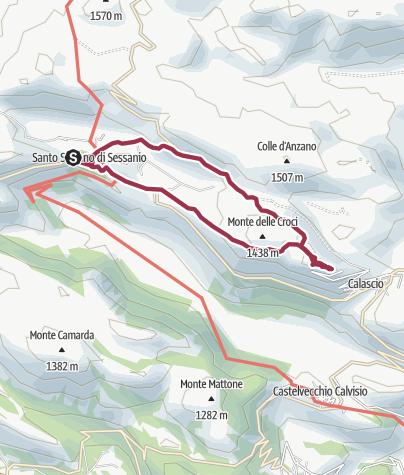 Map / Rocca Calascio da Santo Stefano di Sessanio