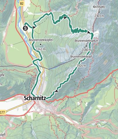 Map / Brunnsteinspitze 2180m