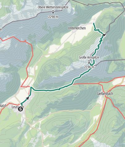 Map / Hoher Sattel-Große Arnspitze-Unterleutasch, 2.196 m
