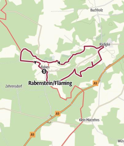 Karte / Auf dem Bergmolchwanderweg im Naturpark Fläming/Brandenburg