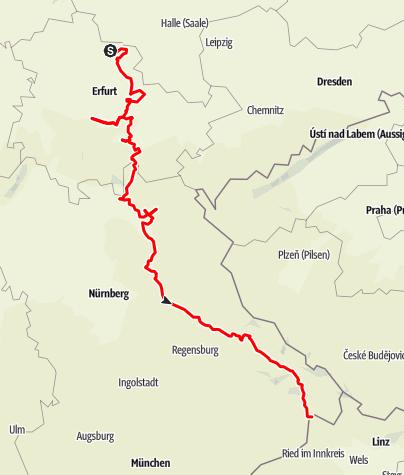 Karte / Bier- und Burgenstraße