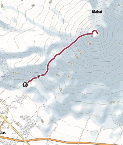 Mapa / Jalur Pendakian Klabat