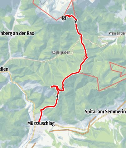 Karte / Etappe 08: BergZeitReise Rax - Karl Ludwig Haus - Mürzzuschlag