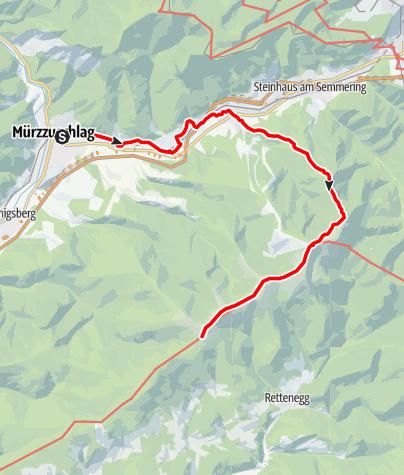 Karte / Etappe 09: BergZeitReise Mürzzuschlag - Stuhleck - Pretul