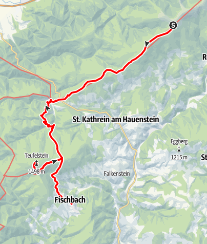 Karte / Etappe 10: BergZeitReise Pretul - Alpl - Fischbach