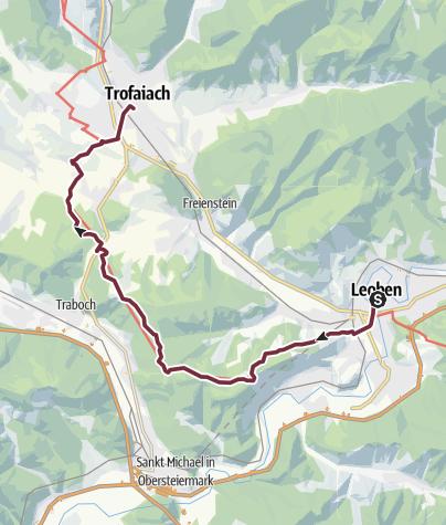 Map / Etappe 16: BergZeitReise Leoben - Trofaiach