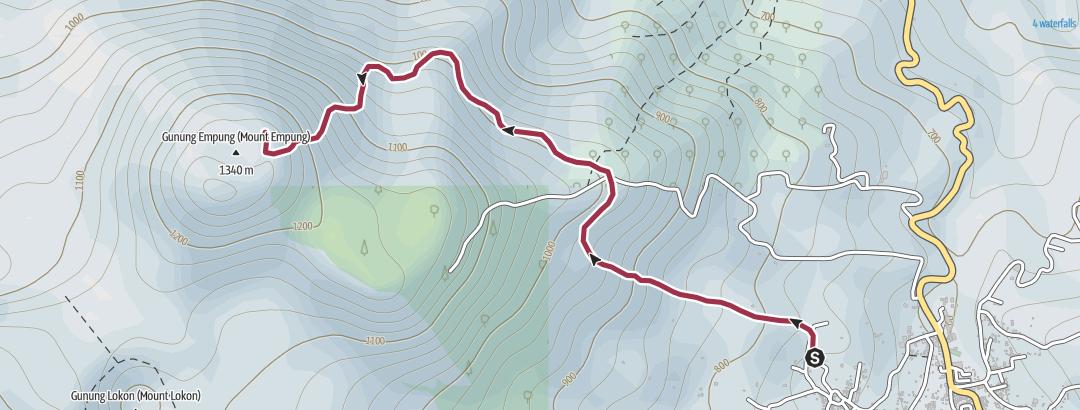 Mapa / Jalur Pendakian Gunung Empung
