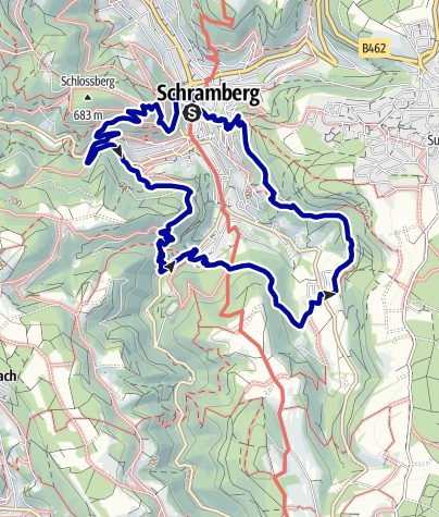 Map / Schramberger Burgen