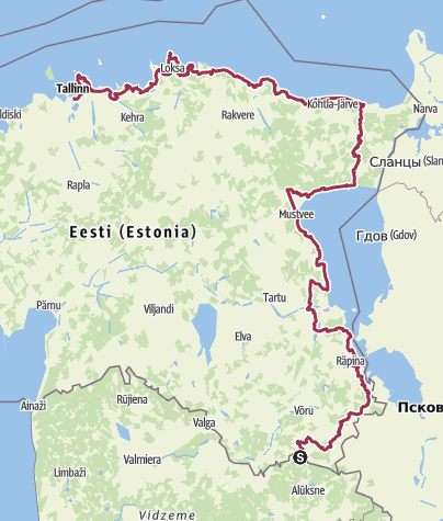 Map / The Baltic Forest Hiking - Metsa matkarada ESTONIA