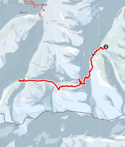 Karte / Schalfkogel von der Langtalereckhütte, Überschreitung zur Martin Busch Hütte