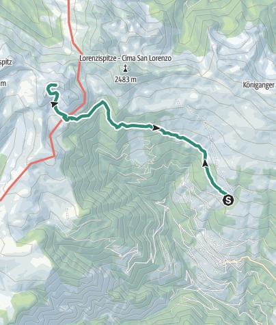 Karte / Zur Kassianspitze in Latzfons