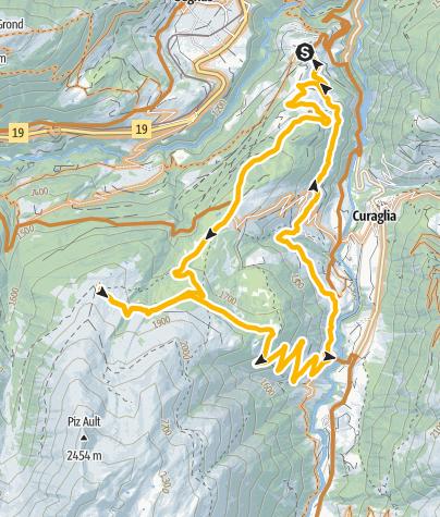 Map / Mompé Medel - Alp Pazzola - Mompé Medel