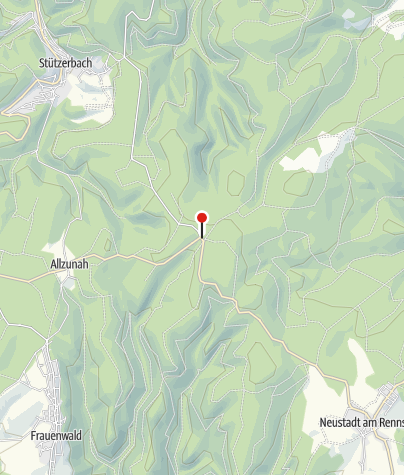 Map / Waldbaude Großer Dreiherrenstein - Frauenwald