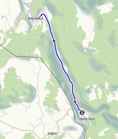 Map / Rafting & kayaking-family route-Una National park